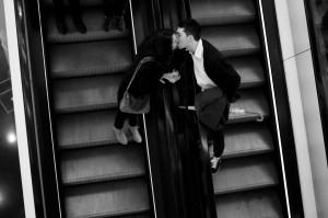 baiser escalator