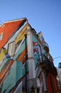 Grâce à Goldie et sa connaissance du street art, on a aussi croisé cette maison à Caiscai le dimanche
