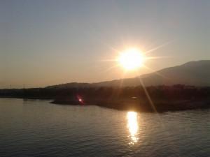 Lever de soleil toujours en direct du ferry
