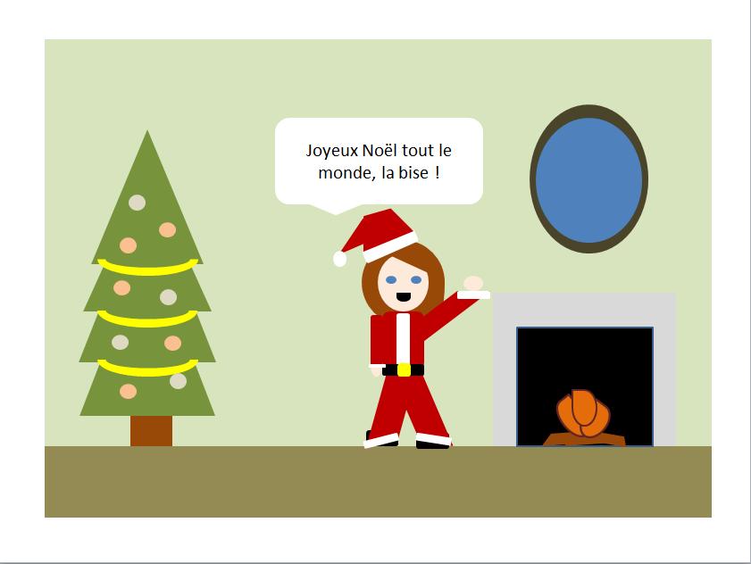 Joyeux Noël en PowerPoint Art, je suis une artiste