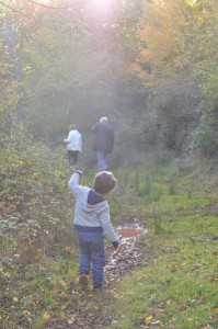 Saturnin joue dans la forêt, une photo sans retouches dont je suis très fière