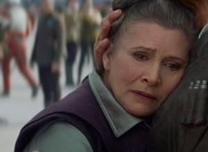 Princesse Leïa dans l'épisode 7 de Star Wars