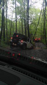 Là par exemple, c'est le jour où j'ai appris à conduire une Jeep. J'ai fait la roue en l'air et tout