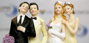 Couples gays et lesbiens sur les gâteaux de mariage