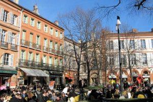 La place St Georges à Toulouse