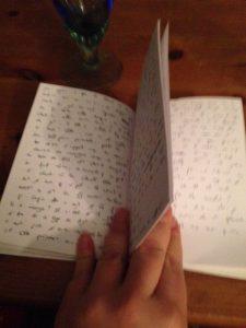 carnet de note noirci