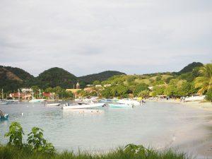 Plage de Pompierre sur l'île des Saintes, Guadeloupe