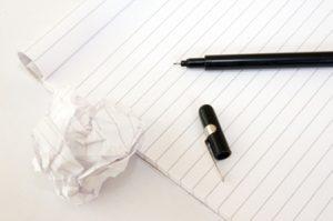 ecrire au quotidien, une discipline - carnet page blanche et stylo