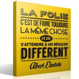 """citation d'albert einstein """"la folie, c'est de faire toujours la même chose et de s'attendre à un résultat différent"""""""