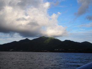 Terre basse vue de la mer, Guadeloupe