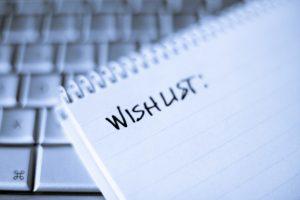 Bonnes résolutions, liste sur un cahier