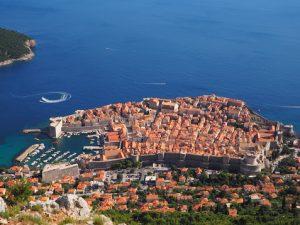 Dubrovnik vu du haut du téléphérique, Croatie