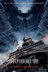 Independence day : resurgence, affiche française, tour eiffel