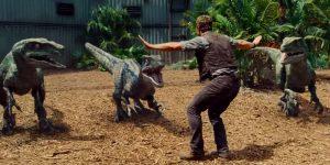 Les raptors de Jurassic World et Chris Pratt