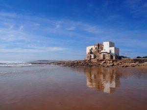 Plage proche d'Essaouira au Maroc