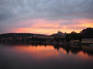Prague coucher de soleil
