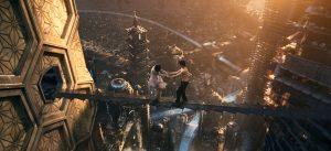 Doona Bae et Jim Burgess dans Cloud Atlas, Neo Seoul