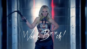 Britney Spears dans le clip Work bitch