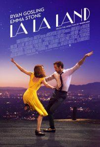Affiche de La la land avec Ryan Gosling et Emma Stone