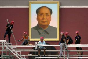 Portrait géant de Mao Zedong