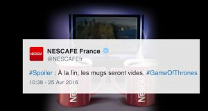Trendhack nescafé game of thrones