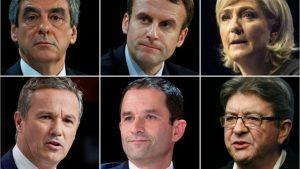 Débat présidentielle : Fillon, Hamon, Macron, Mélenchon, Le Pen, Dupont-Aignan