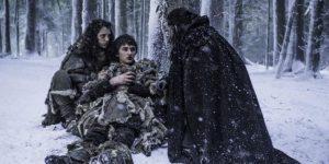 Meera, bran et Benjen Stark dans la saison 6 de Game of thrones