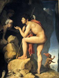 Oedipe et le sphynx, un tableau de Ingres