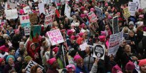 Manifestation féministe contre Trump aux Etats-Unis