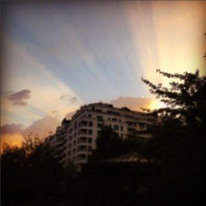 Coucher de soleil, derniers rayons