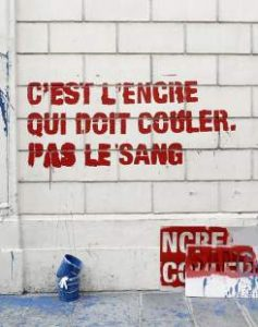 C'est l'encre qui doit couler, pas le sang, question sur la liberté d'expression en France