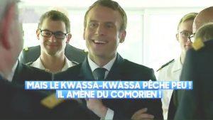 Emmanuel Macron fait une blague immonde sur les Kwassa Kwassa