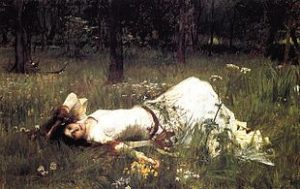 Ophelia par Waterhouse