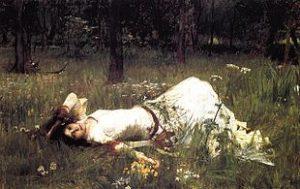 Ophelia par Waterhouse