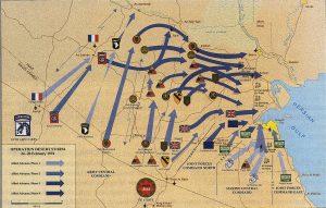 Carte de la bataille tempête du désert