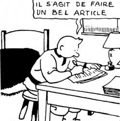 Tintin journaliste