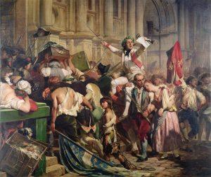 La prise de la bastille en tableau - révolution française