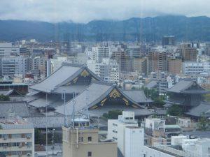 Kyoto, vue du temple Higashi Honganji