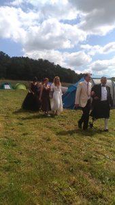 Arrivée des mariées, cérémonie laïque