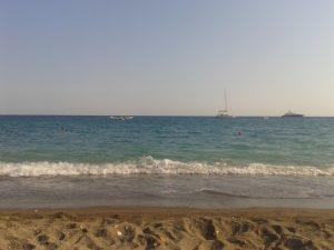 Sur la plage d'Ischia
