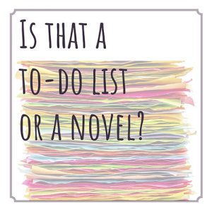 To do list de la fiction