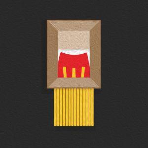 Détournement de la destruction de l'oeuvre de Banksy par McDo