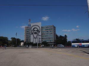 Place de la Révolution à la Havane, Cuba. Camillo Cienfuegos