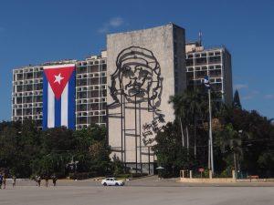 Place de la Révolution à la Havane, Cuba. Che Guevara