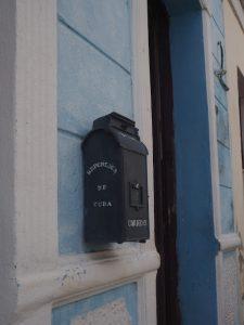 Une boîte postale à Cienfuegos