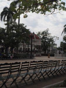 Kiosque de la place centrale à Cienfuegos