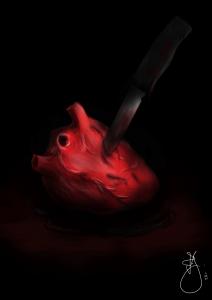 Coeur blessé par un couteau