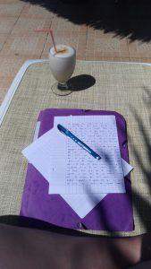 Ecrire au soleil