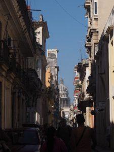 perspective dans les rues de la Havane