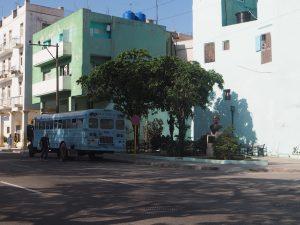 Bus dans les rues de la Havane, Cuba